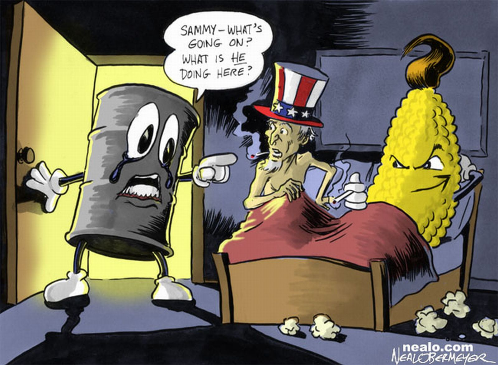 In Bed With Uncle Sam Big Oil Ethanol Image -3088
