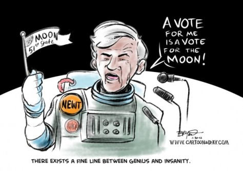 Newt Gingrich Moon Base - Pics about space