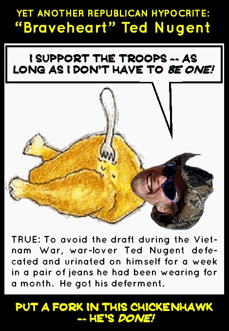 Chicken Hawk Ted Nugent 171 Goodolewoody S Blog And Website