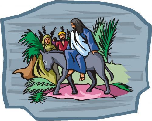 clipart jesus on donkey - photo #5