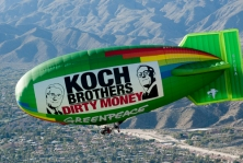 GREENPEACE AIRSHIP OVER KOCH BROTHER MEETING