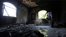 The burned out hull of the U.S. Consulate in Benghazi following attacks by suspected terrorists there on Sept. 11, 2012, that killed four Americans, including the U.S. Ambassador to Libya Christopher Stephens. / GETTY IMAGES