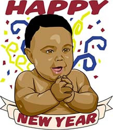 black-baby-new-year