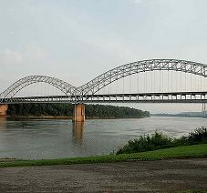 Sherman Minton Bridge in Louisville, KY