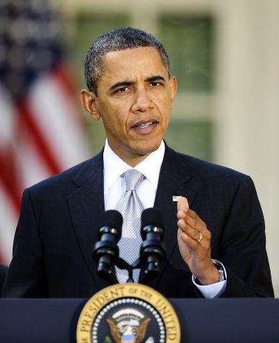 US President Barack Obama delivers remar