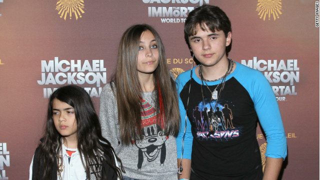 Blanket Jackson, Paris Jackson and Prince Jackson attend the Los Angeles premiere of Michael Jackson 'THE IMMORTAL' World Tour at Staples Center in 2012.