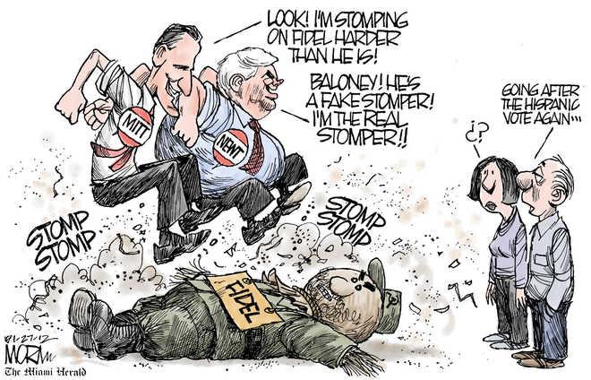 Fidel Castro stomping