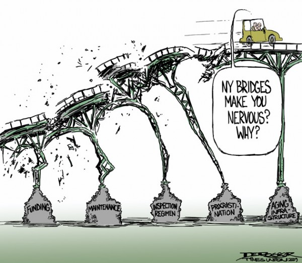 cartoon ny bridges crumbling