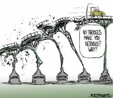 cartoon ny bridges crumbling