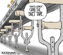 July 17, 2011 John de Rosier editorial cartoon