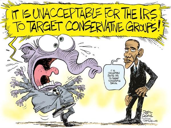 political scandal cartoons