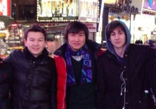 VKontakt Azamat Tazhayakov (left), Dias Kadyrbayev, and Dzhokhar Tsarnaev (right) in a photo taken in Times Square. The picture, which appeared on Tsarnaev's page on VKontakt, the Russian equivalent of Facebook, is believed to be from November 2012.