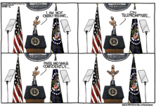 obama teleprompter cartoon