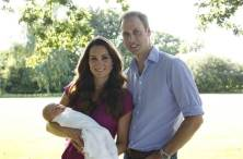 Michael Middleton / PA Prince William and Duchess Kate hold their newborn son, Prince George, at Kate's family's Bucklebury estate. The couple was photographed by Kate's father, Michael Middleton.