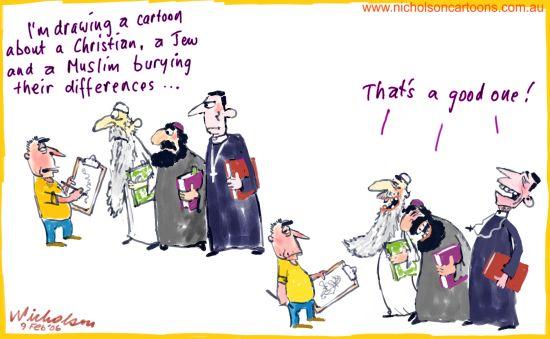 2006-02-09-Cartoon-Muhammed-Christian-Jew-Muslim-joke-550
