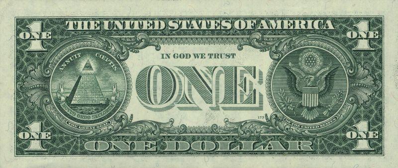 2007_US_$1_Bill_Reverse