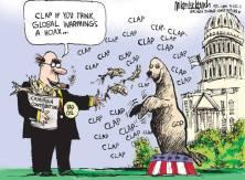 cartoon big oil global warming hoax