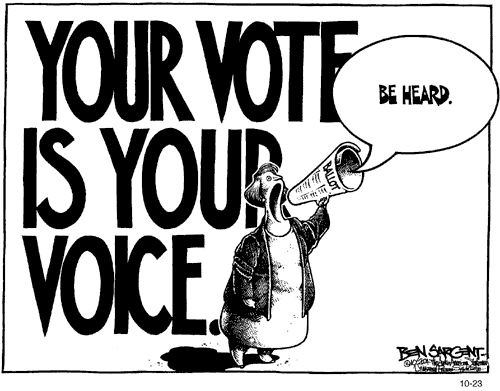 vote cartoon