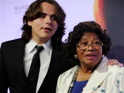 David Becker / AP Katherine Jackson and her three grandchildren, including Prince, seen with her here, sued AEG Live for its alleged role in the death of Michael Jackson.