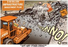 GOP infrastructure cartoon