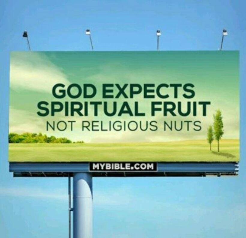 god expects spiritual fruit