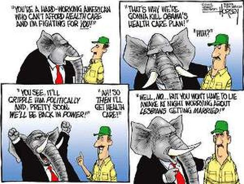GOP death hypocrisy cartoon