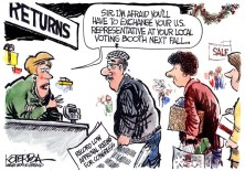 "Jeff Koterba color cartoon for 12/28/2011 ""US Representative and returns"""