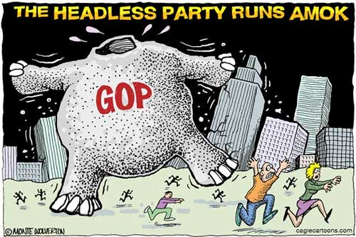 Republicans have no leader and no idea of how to govern., From GoogleImages