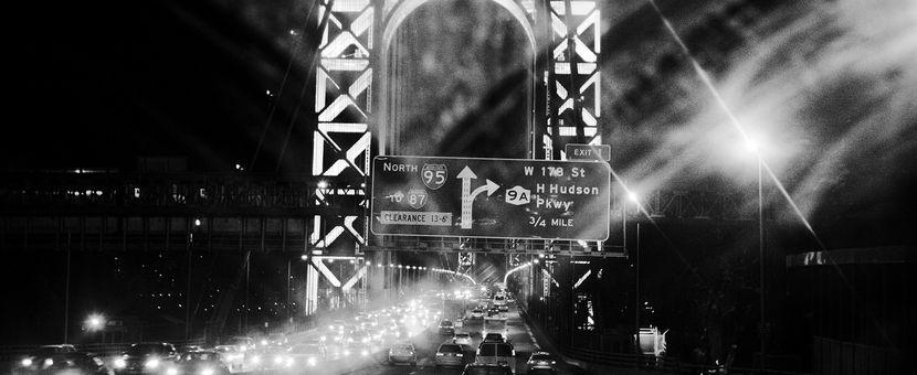 A night scene of the George Washington Bridge. PHOTO BY Q. SAKAMAKI/REDUX FOR MSNBC