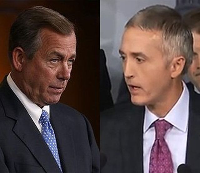 Speaker Boehner of Ohio and Rep. Gowdy of South Carolina