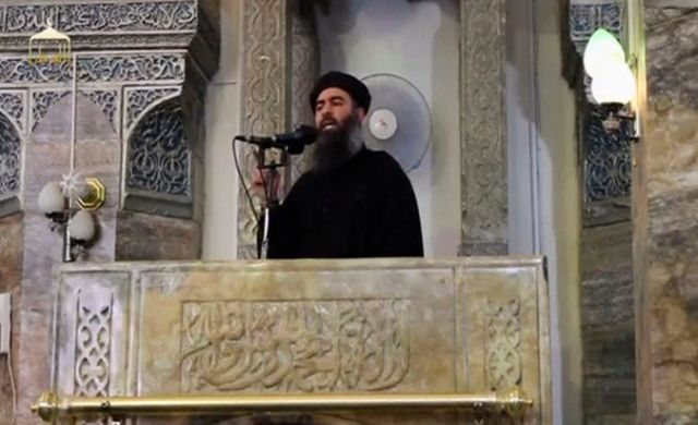 An image of Abu Bakr al-Baghdadi, taken from a video of a sermon he gave in July in Mosul. Credit Reuters Tv/Reuters