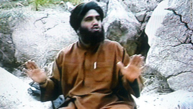Sulaiman Abu Ghaith, Osama bin Laden's son-in-law, in an image from the Saudi-owned Middle East Broadcasting Center.