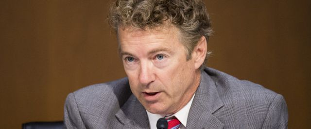 Sen. Rand Paul (R-Ky.) questions Secretary of State John Kerry during a Senate Foreign Relations Committee hearing on Sept. 17. (Photo By Bill Clark/CQ Roll Call) | Bill Clark via Getty Images