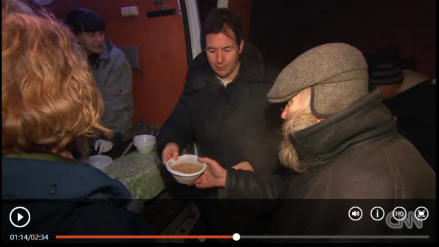 On the streets of St. Petersburg people are turning to charity for their only hot meal. CNN's Matthew Chance reports.