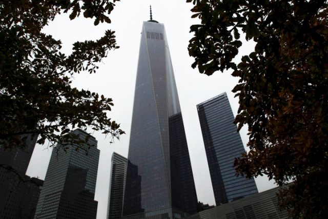 General view of One World Trade Center in New York