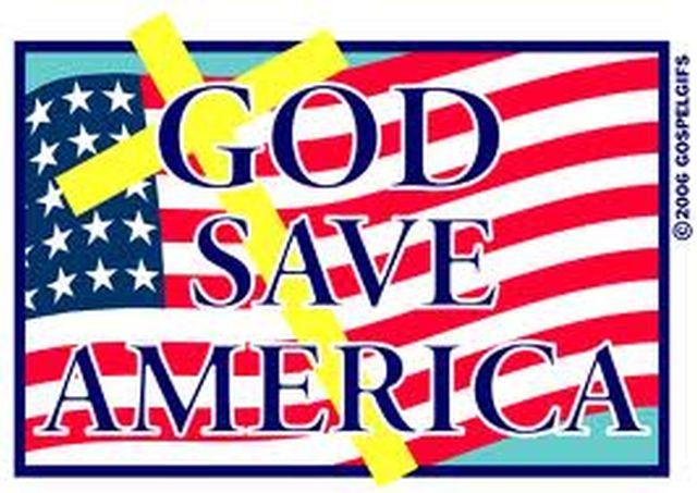 GOD SAVE AMERICA