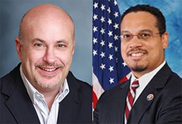 U.S. Representatives Mark Pocan (D-WI) and Keith Ellison (D-MN)