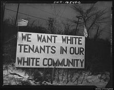Across the street from a federal housing project built for black residents of Detroit in 1942. (Photo via Arthur S. Siegel/Library of Congress)