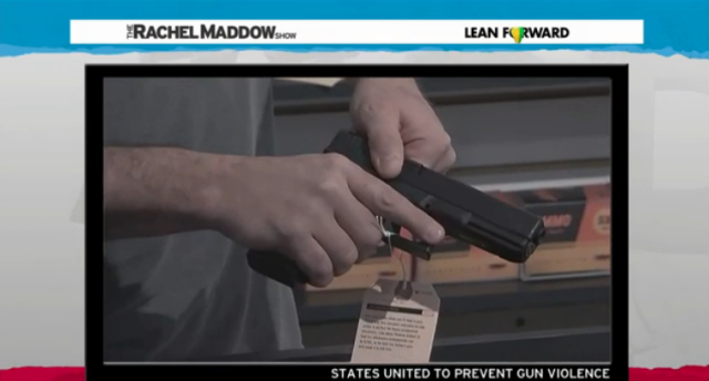 Rachel Maddow reports on an anti-gun publicity stunt that is so powerful in making its point that gun rights groups are freaking out, voicing their objections and attacking States United to Prevent Gun Violence any way they can.