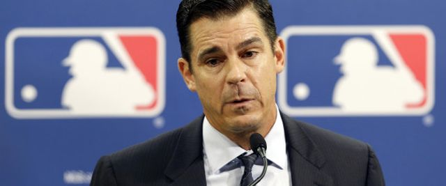 Former major league outfielder Billy Bean speaks during a news conference at baseball's All-Star game, Tuesday, July 15, 2014, in Minneapolis. Major League Baseball has appointed Bean, who came out as gay after his playing career, to serve as a consultant in guiding the sport toward greater inclusion and equality. (AP Photo/Paul Sancya) | ASSOCIATED PRESS