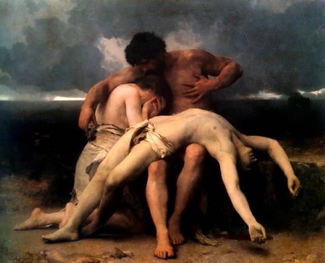 The First Mourning (Adam and Eve mourn the death of Abel); oil on canvas 1888 painting by William-Adolphe Bouguereau
