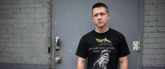 MANHATTAN, NY - APRIL 15: Landon Wilson, 24, poses for a portra