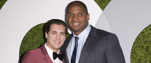 Honoree Michael Sam, right, and his boyfriend Vito Cammisano attend the 2014 GQ Men of the Year Party at Chateau Marmont in Los Angeles on Thursday, Dec. 4, 2014. (Photo by Dan Steinberg/Invision/AP Images)   Dan Steinberg/Invision/AP