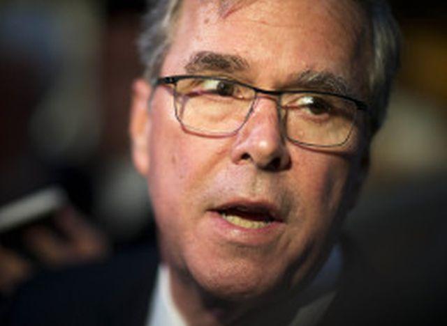 "Jeb Bush said Indiana's controversial law was not ""discriminatory at all."" (AP Photo/David Goldman)"