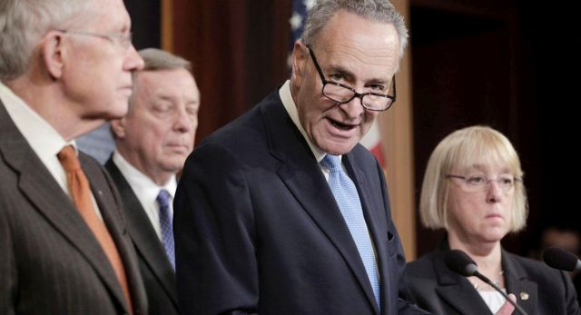 Senate Democratic Leadership Holds News Conference On Immigration