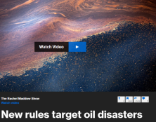 Rachel Maddow reports on new safety regulations for oil rig blowout preventers, announced by the Department of the Interior, four years after the failure of the blowout preventer on the Deepwater Horizon rig led to a BP oil spill that devastated the Gulf ...