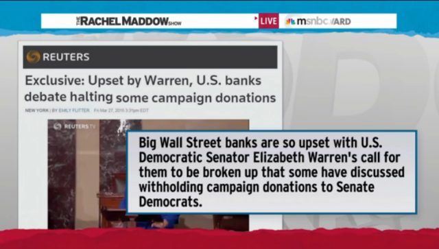 Senator Elizabeth Warren talks with Rachel Maddow about the differences between Democrats and Republicans on popular issues like student loans and the minimum wage, and why she thinks emphasizing those distinctions is key to Democratic political success.
