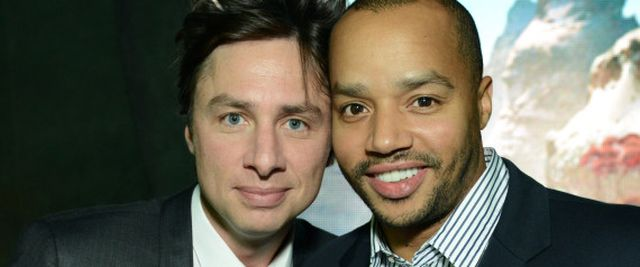 "Zach Braff and Donald Faison attend the World Premiere of ""Oz The Great and Powerful"" after party on Wednesday, Feb. 13, 2013 in Los Angeles. (Photo by Jordan Strauss/Invision/AP) 