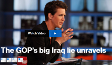 "Rachel Maddow sets the record straight on the deliberate lies told to support the decision to go to war in Iraq, and talks with Dan Rather of AXS TV about how political coverage of ""the Iraq question"" is allowing Republican candidates to re-write history."