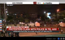 Richard Lui reports on the clashes between police and demonstrators protesting against what they say is police racism after a video clip emerged showing policemen punching a black soldier.